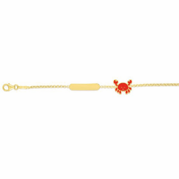 "14kt Gold 6"" Yellow Finish Enamel Bracelet with Lobster Clasp - RC2653"
