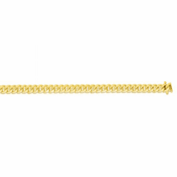 "14kt Gold 8.5"" Yellow 5mm New Miami Cuban Bracelet with Box Clasp"