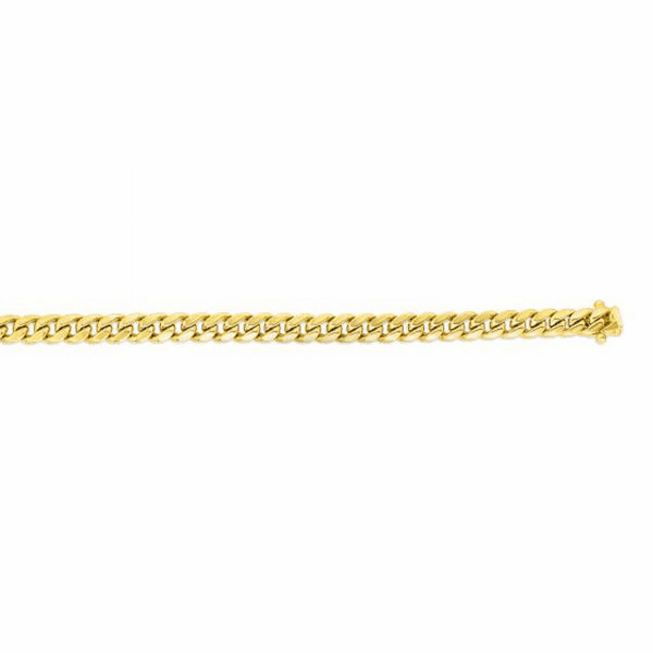 "14kt Gold 8.5"" Yellow 7.2mm New Hollow Miami Cuban Bracelet"