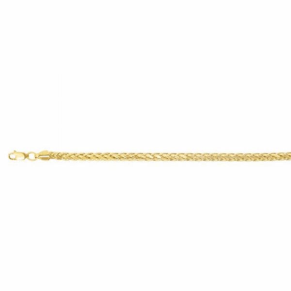 "14kt Gold 8.75"" Yellow Finish 4.5mm Round Diamond Cut Franco Bracelet"