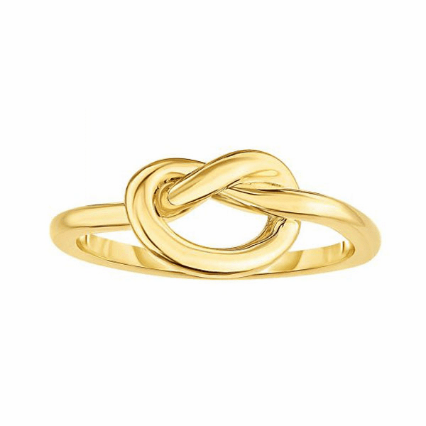 14kt Gold Size-7 Yellow Finish 2-7.7mm Shiny Fancy Ring