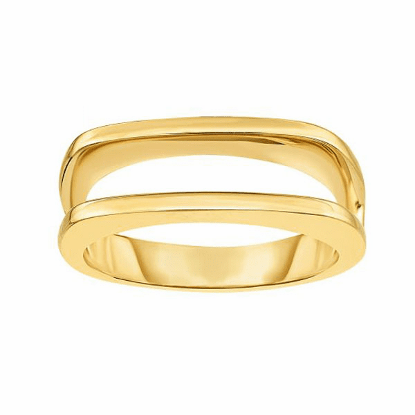 14kt Gold Size-7 Yellow Finish 3.4-6.5mm Shiny Fancy Ring