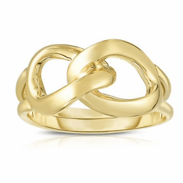 14kt Gold Size-7 Yellow Finish Fancy Ring - R6897