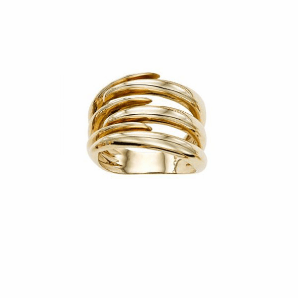 14kt Gold Size-7 Yellow Finish Image Based-TBR Ring