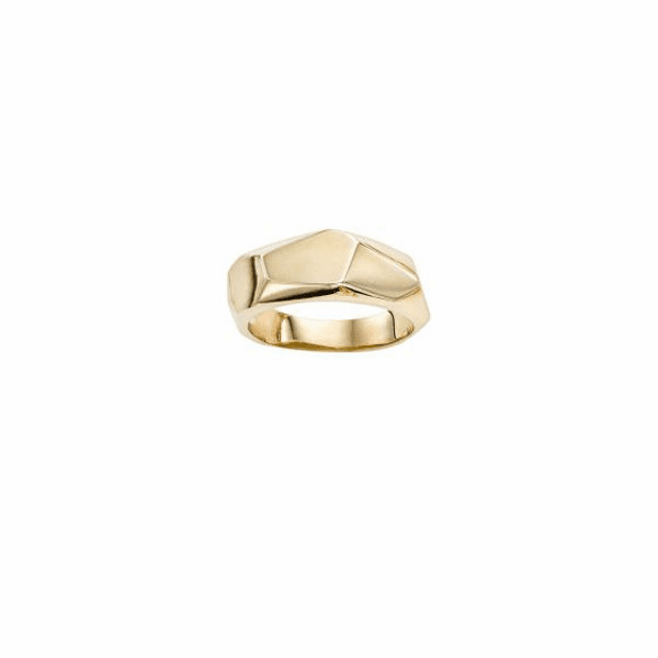 14kt Gold Size-7 Yellow Finish Ring - R6841