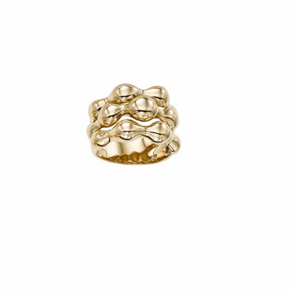 14kt Gold Size-7 Yellow Finish Ring - R6842