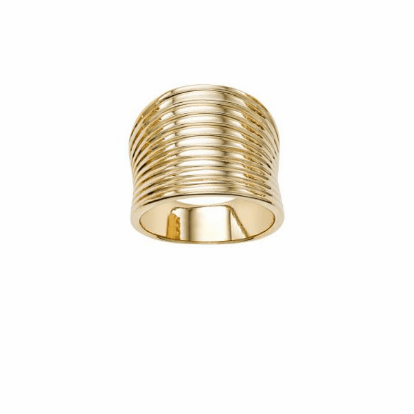 14kt Gold Size-7 Yellow Finish Ring - R6849