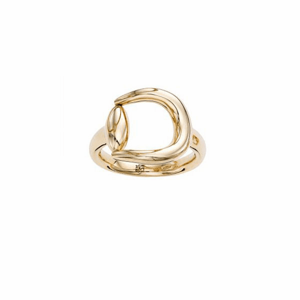 14kt Gold Size-7 Yellow Finish Ring - R6904