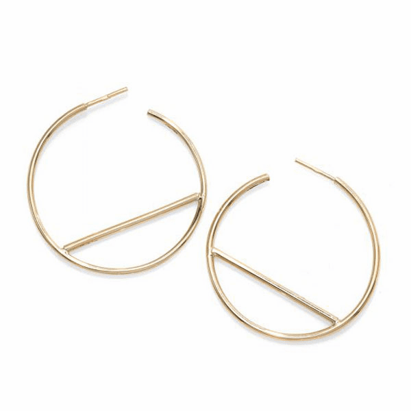 14kt Gold Yellow Finish 1.5x36x36.5mm Polished Hoop Earring