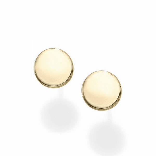 14kt Gold Yellow Finish 5.5mm Polished Round Post Earring