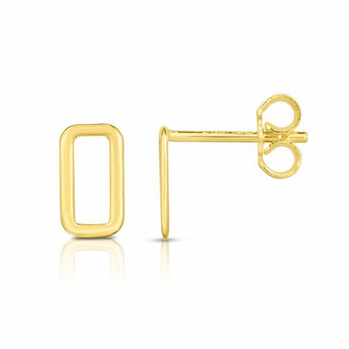 14kt Gold Yellow Finish Earring with Push Back Clasp - ER7947