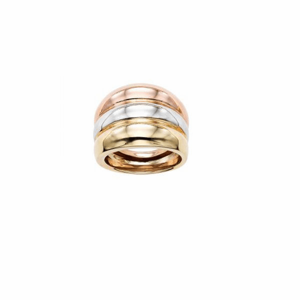 14kt Size-7 Rose/Yellow/White Gold Ring