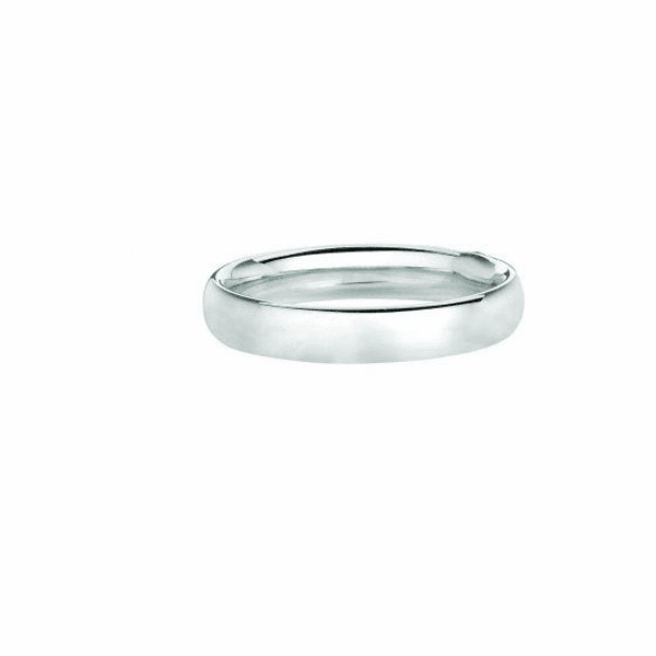 14kt White Gold 3.0mm Shiny Comfort Fit Wedding Band