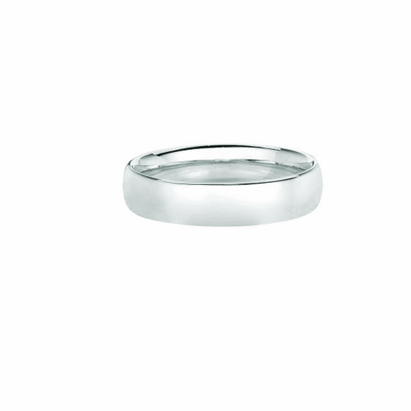 14kt White Gold 8mm Wedding Band