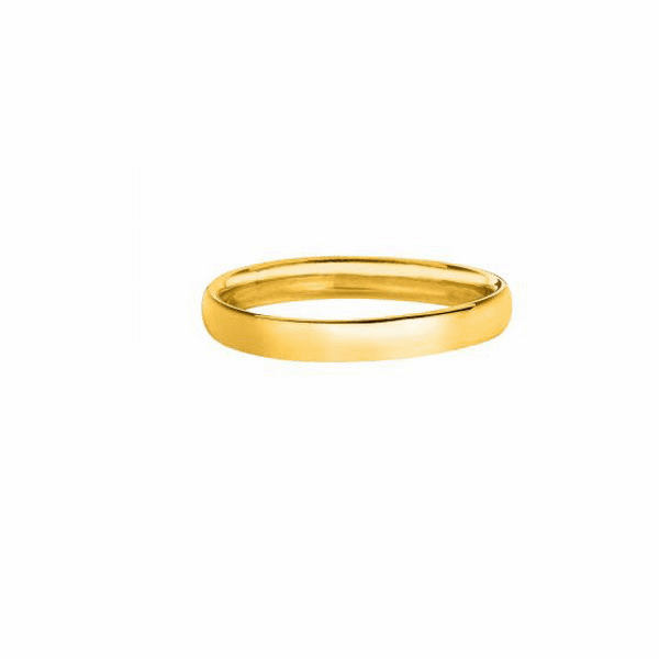 14kt Yellow Gold 2.5mm Shiny Comfort Fit Wedding Band