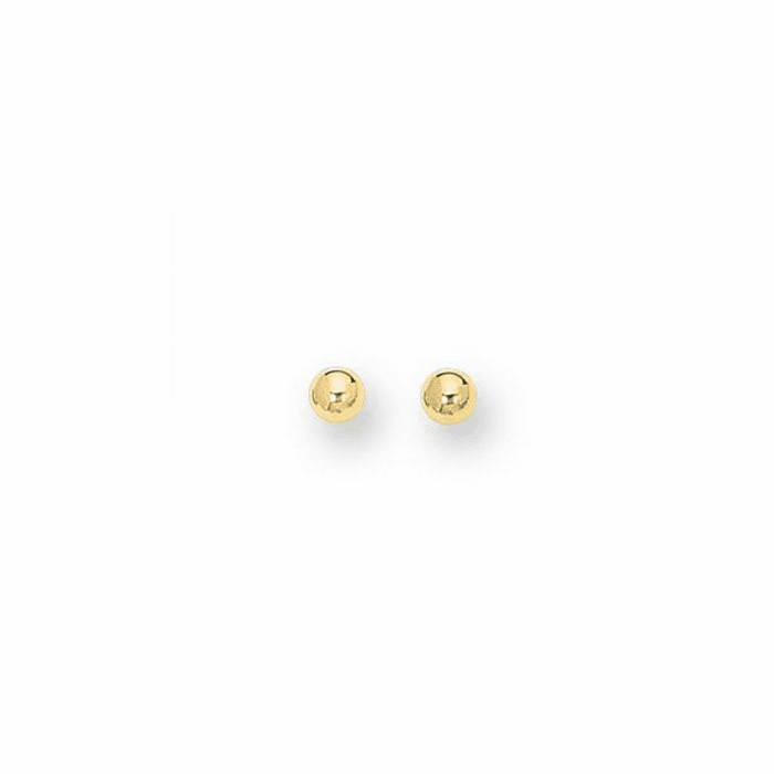 14Kt Yellow Gold 3.0mm Shiny Ball Post Earring