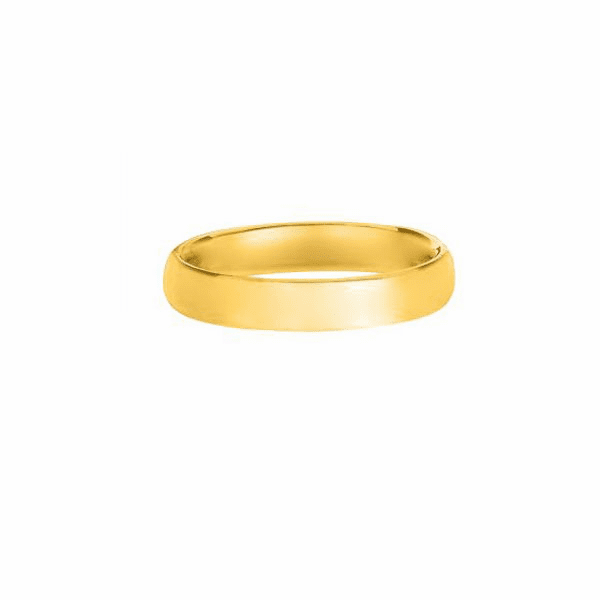 14kt Yellow Gold 3.0mm Shiny Comfort Fit Wedding Band