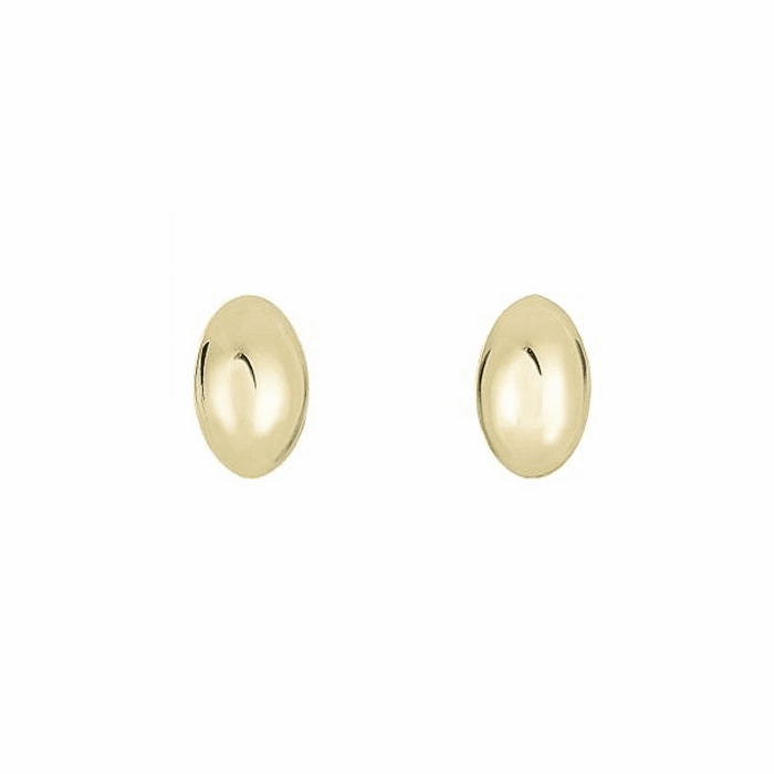 14Kt Yellow Gold 6.1X9.9mm Small Puffed Marquis Shape Post Earring
