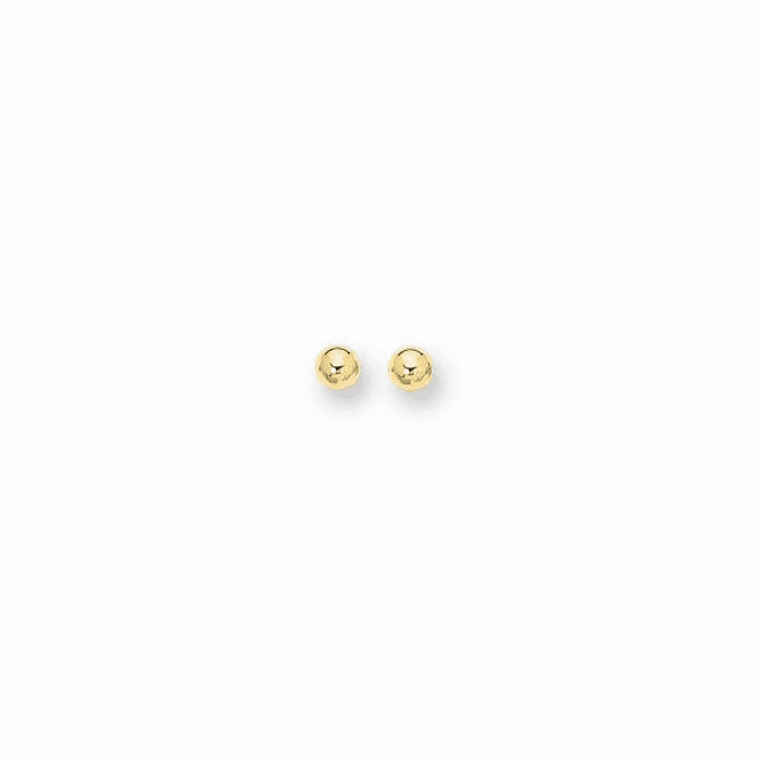 14Kt Yellow Gold 7.0mm Shiny Ball Post Earring