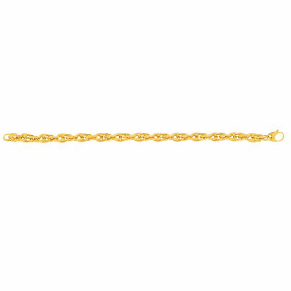 "14kt Yellow Gold 7.5"" Double Oval Link Bracelet with Fish Clasp"