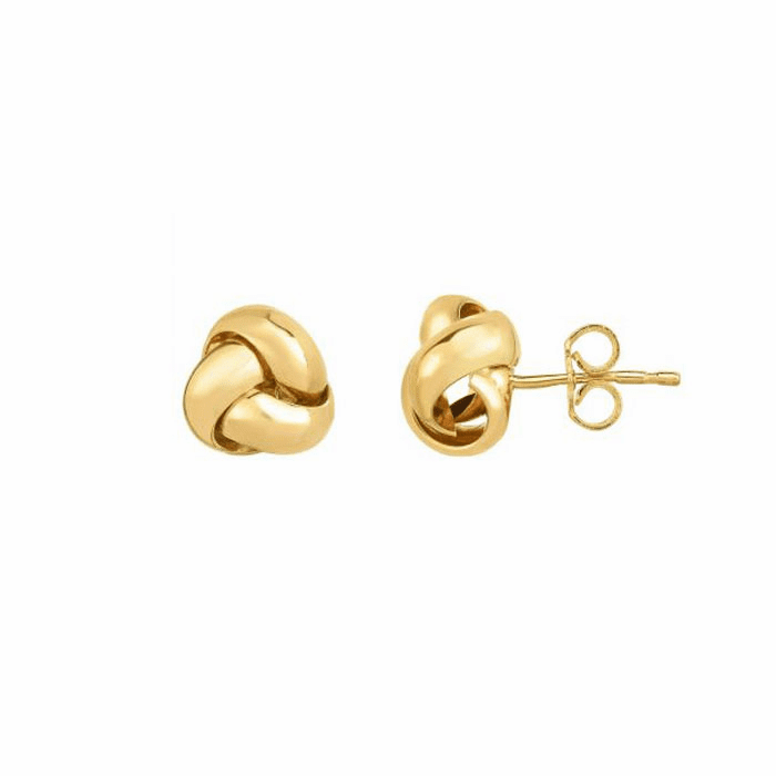 14kt Yellow Gold 8.5mm Shiny Loveknot Post Earring