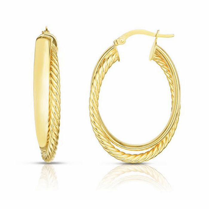 14kt Yellow Gold Earring with Hinged Clasp