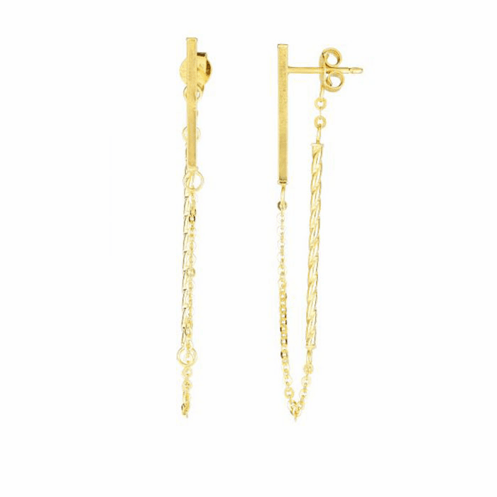 14kt Yellow Gold Earring with Push Back Clasp - ER7723