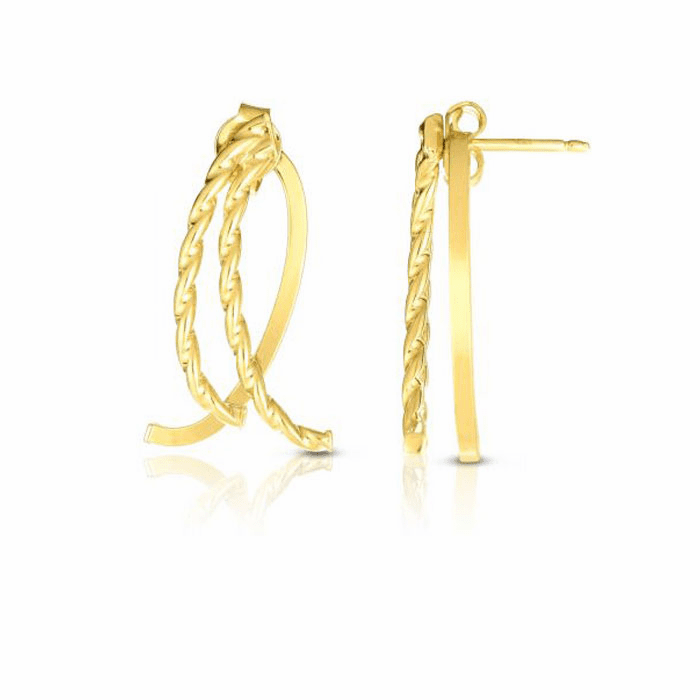 14kt Yellow Gold Earring with Push Back Clasp - ER7730