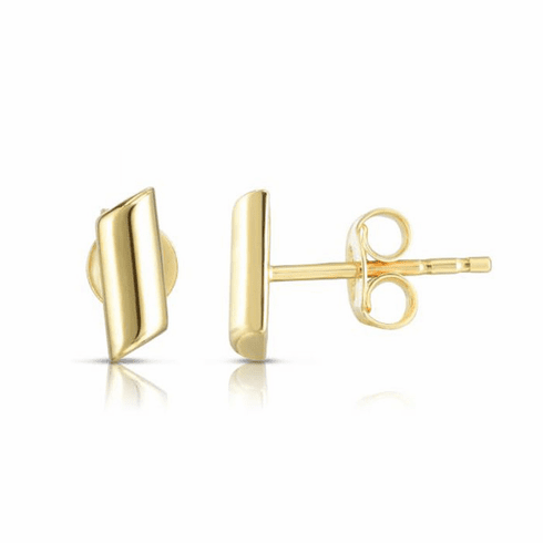 14kt Yellow Gold Earring with Push Back Clasp - ER7771