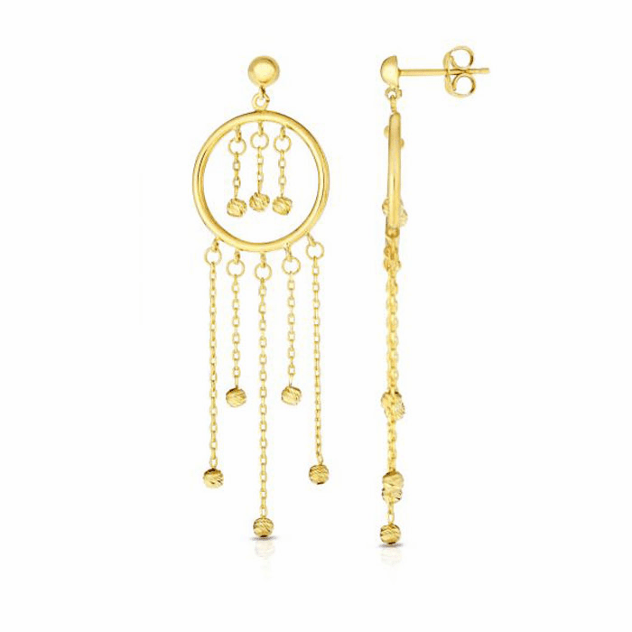 14kt Yellow Gold Earring with Push Back Clasp - ER7789