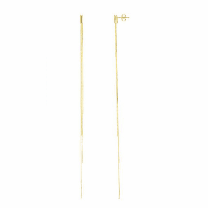 14kt Yellow Gold Earring with Push Back Clasp - ER7969