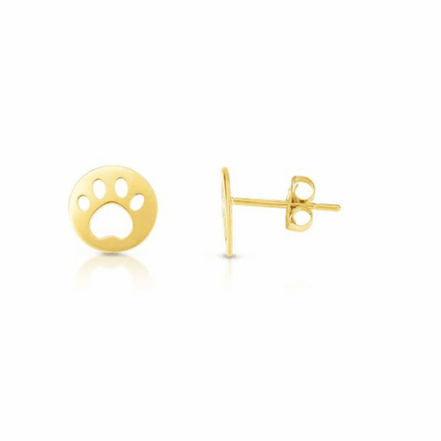 14kt Yellow Gold Earring with Push Back Clasp - ER8156