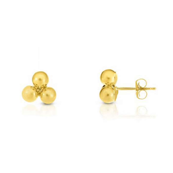 14kt Yellow Gold Earring with Push Back Clasp - ER8160
