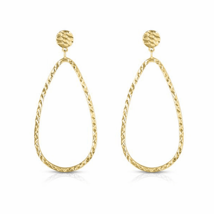 14kt Yellow Gold Earring with Push Back Clasp - YER8323