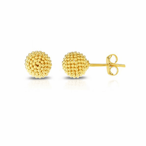 14kt Yellow Gold Polished Earring with Push Back Clasp