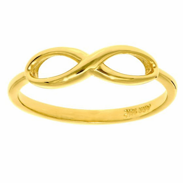 "14kt Yellow Gold Size-7 Shiny ""Infinity"" Ring"