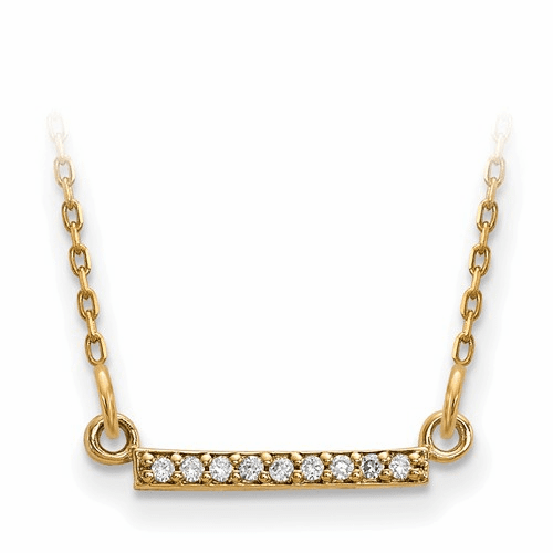 14ky Diamond Tiny Bar Necklace Xp5030a