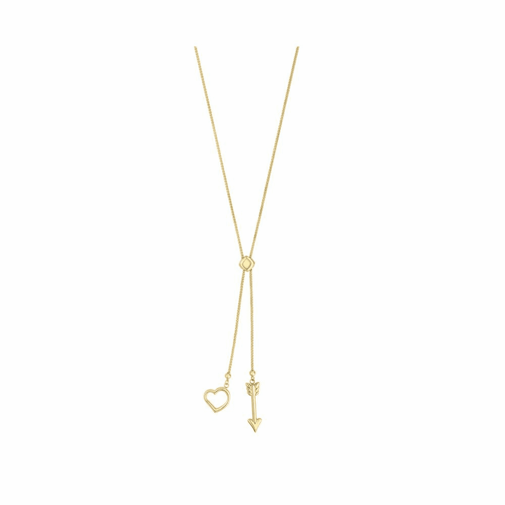 Adjustable Friendship Necklace - 14K Yellow Gold 28 Inch
