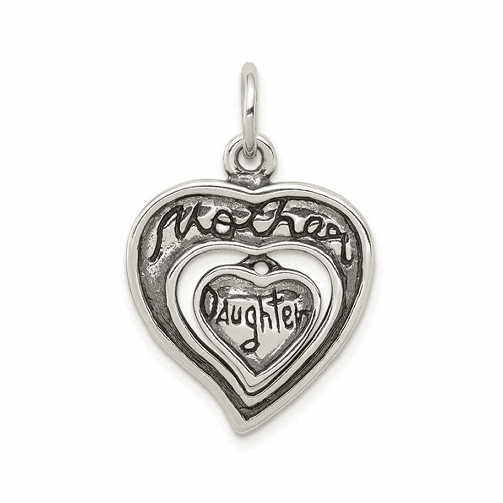 Antique Mother and Daughter Charm - Sterling Silver