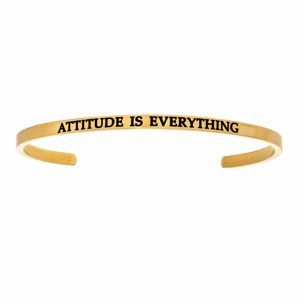 Attitude is Everything Cuff Bangle - Stainless Steel