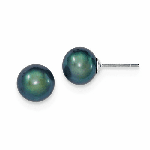 Ball, Button & Stud Round Pearl Stud Earrings