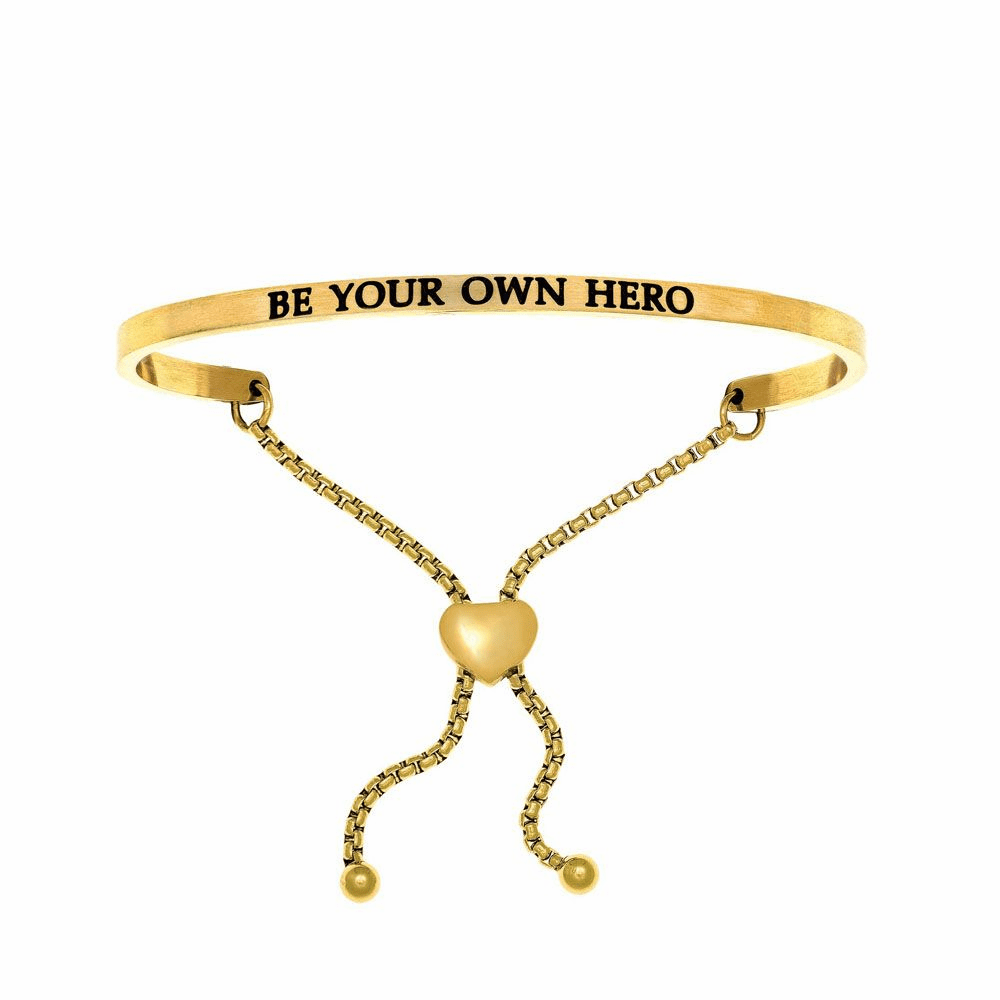 Be Your Own Hero Adjustable Friendship Bracelet - Stainless Steel