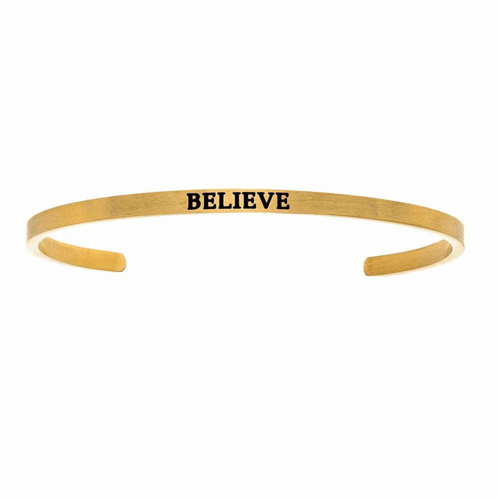 Believe Cuff Bangle - Stainless Steel