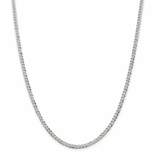 Beveled Curb Chain Necklaces