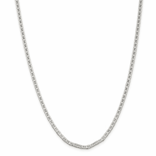 Beveled Flat Anchor Chain Necklaces