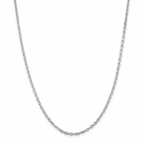 Beveled Oval Cable Chain Necklaces