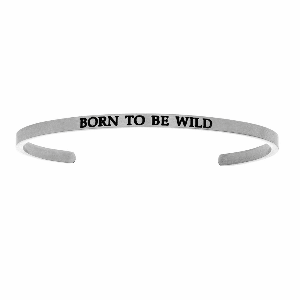 Born To Be Wild Cuff Bangle - Stainless Steel