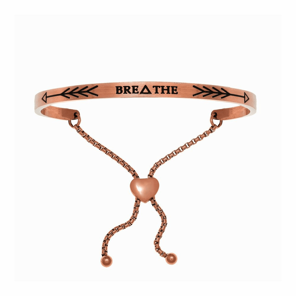 Breathe Adjustable Bangle - Stainless Steel