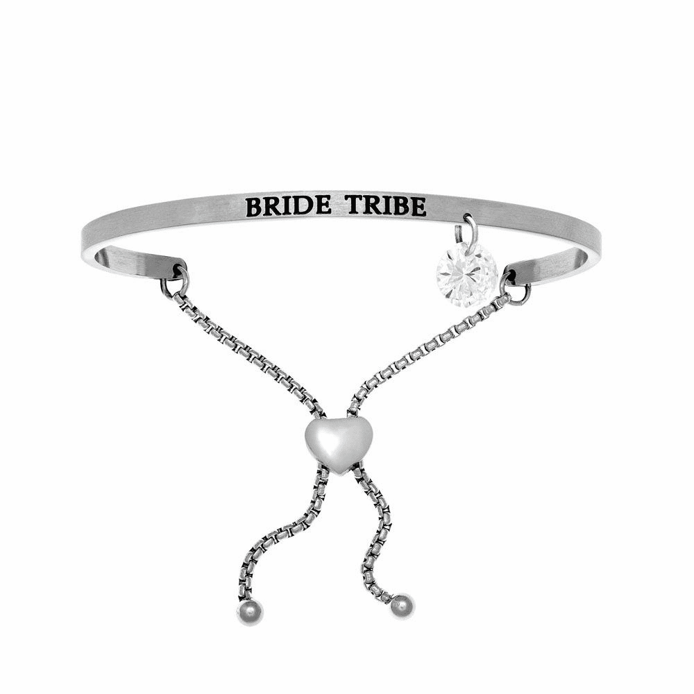 Bride Tribe Adjustable Bangle - Stainless Steel