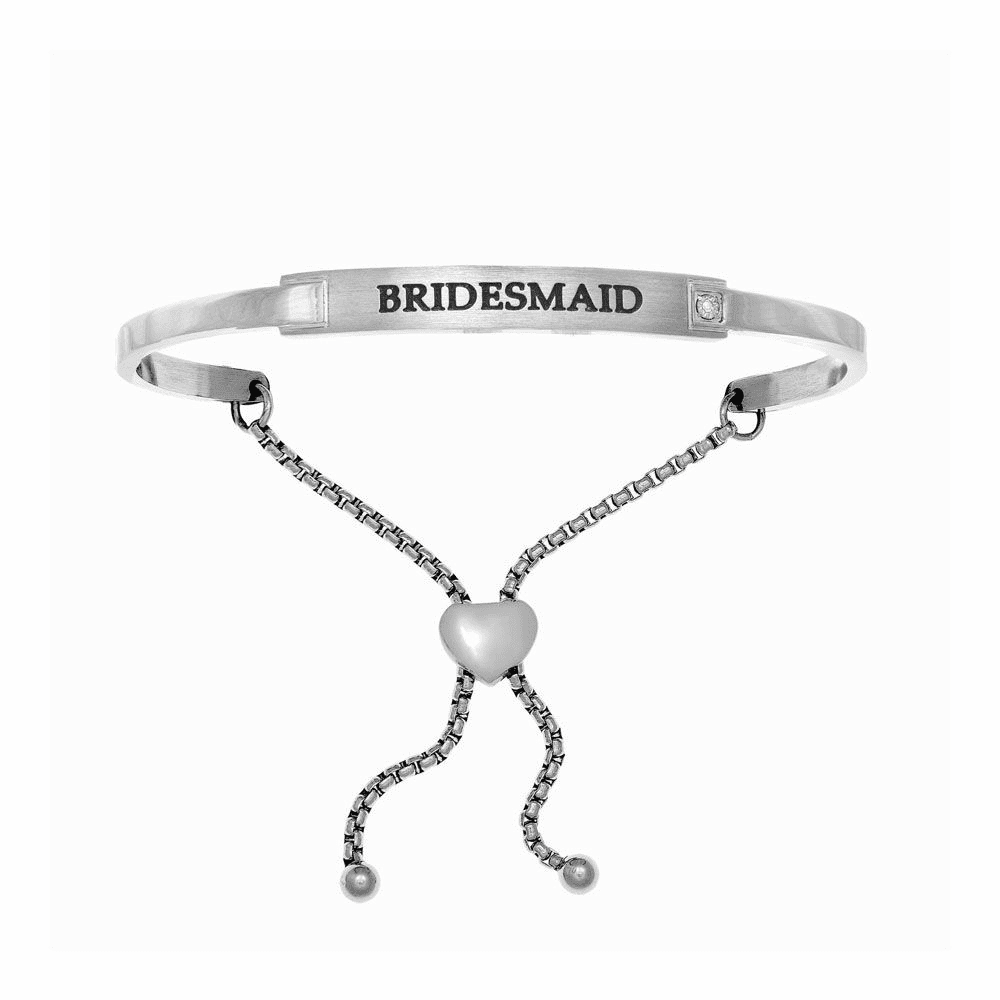 Bridesmaid Adjustable Bangle - Stainless Steel